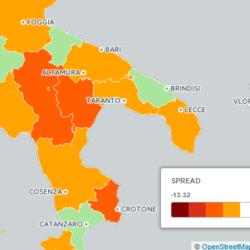 Referendum Costituzionale - Mappa Interattiva BiDiMedia (Spread SI - PD Europee 2014)