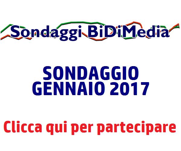 Sondaggio Bidimedia - Gennaio 2017: partecipa anche tu!