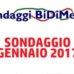 Elezioni Politiche: Sondaggio Bidimedia - Gennaio 2017 - Come voteranno gli Italiani?