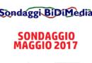 Elezioni Politiche: Sondaggio Bidimedia – Maggio 2017 – Come voteranno gli Italiani?