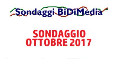 Elezioni Politiche: Sondaggio Bidimedia – Ottobre 2017 – Partecipate al nostro sondaggio!
