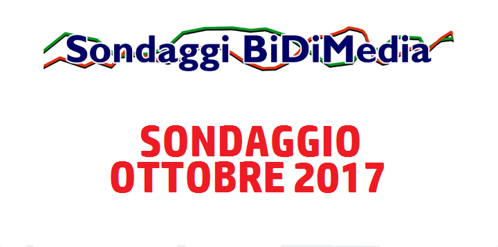 Elezioni Politiche: Sondaggio Bidimedia - Ottobre 2017 - Partecipate al nostro sondaggio!