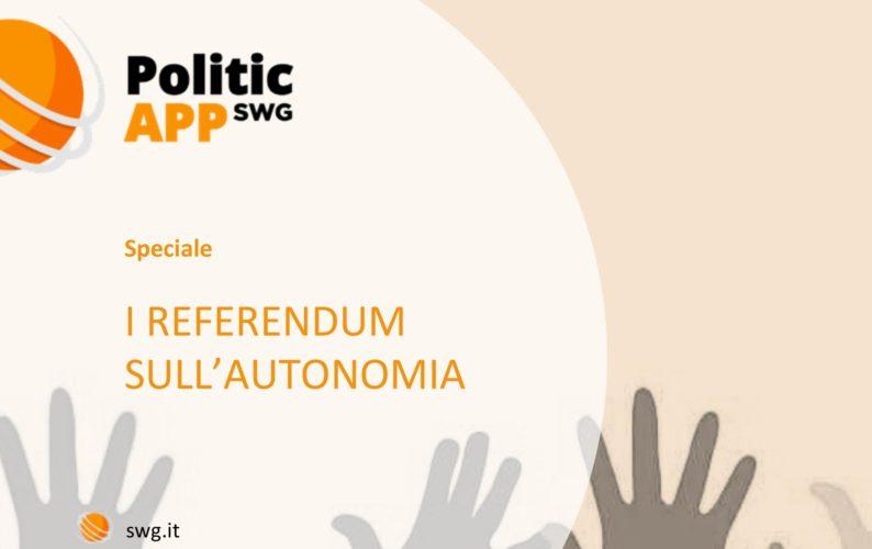 Referendum per l'autonomia - sondaggio SWG: per il 55% spesa inutile, Lega in agitazione.