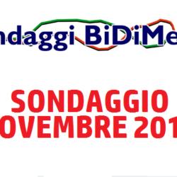 Elezioni Politiche: Sondaggio Bidimedia - Novembre 2017 - Partecipate al nostro sondaggio!