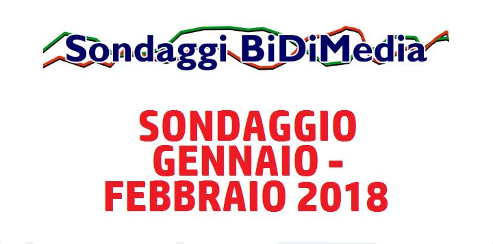 Elezioni Politiche (4 Marzo) - Sondaggio Bidimedia - Gennaio/Febbraio 2018 - Partecipate al nostro sondaggio!