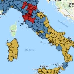 Mappa interattiva Bidimedia dei risultati elettorali per collegio - Camera: trova il risultato nella tua città!