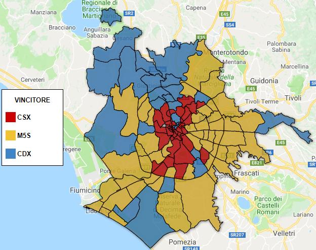 Risultati Roma e confronto comunali 2016: effetto Raggi?