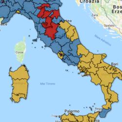 Mappa interattiva Bidimedia dei risultati elettorali per collegio – Senato: trova il risultato nella tua regione!