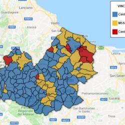 Regionali Molise 2018 - la mappa interattiva dei risultati comune per comune