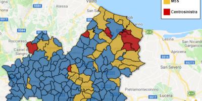 Regionali Molise 2018 – la mappa interattiva dei risultati comune per comune