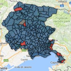 Regionali Friuli-Venezia Giulia 2018 - la mappa con i risultati comune per comune
