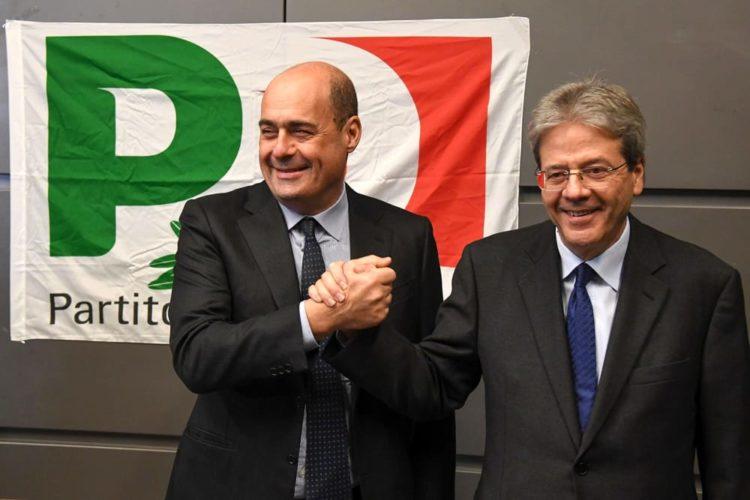 Sondaggio Izi - Gradimento nel PD: Gentiloni e Zingaretti doppiano Renzi, Martina più indietro