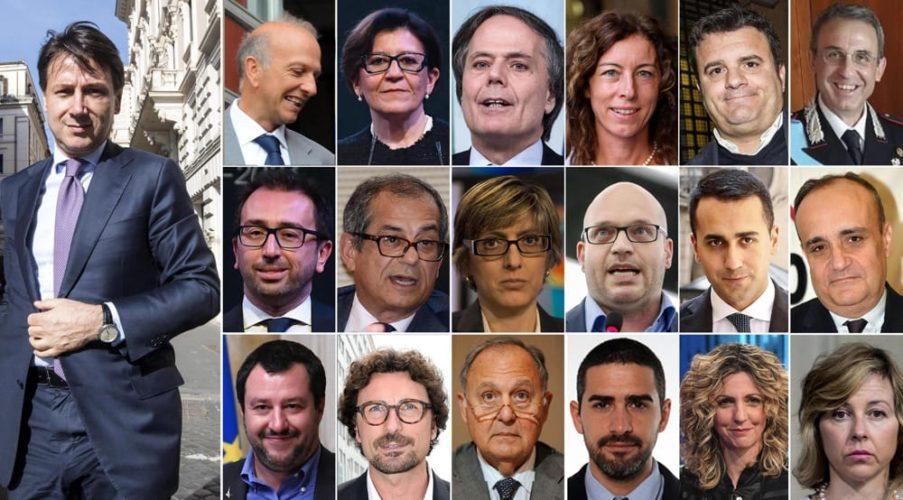 Sondaggio Euromedia - Ministri: Salvini è in testa con il 52%, Di Maio sotto il 40%, Giulia Grillo in ultima posizione