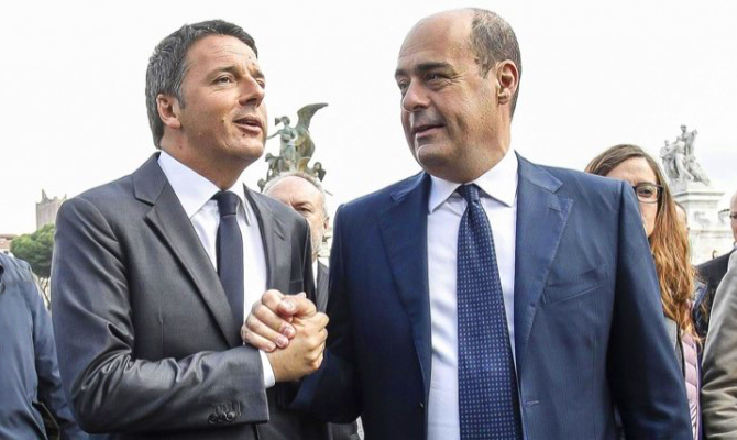 Sondaggio Izi - Primarie PD: Zingaretti favorito su Renzi e Calenda