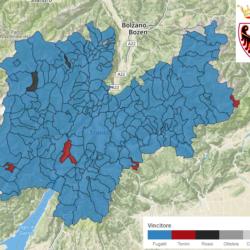 Provinciali Trentino: la mappa con i risultati comune per comune