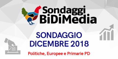 Elezioni Politiche, Europee e Primarie PD – Dicembre 2018 – Partecipate al nostro sondaggio: chi votereste se si votasse domani?