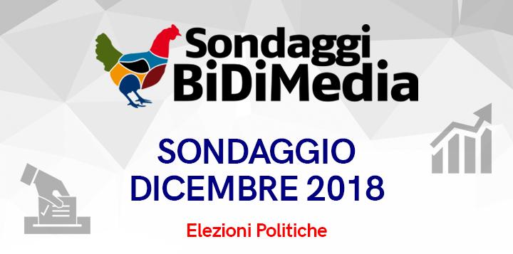 Sondaggio BIDIMEDIA 24 dicembre - Elezioni Politiche: crollano M5S e Pd, vola la Lega, ma +Eu è sopra la soglia!