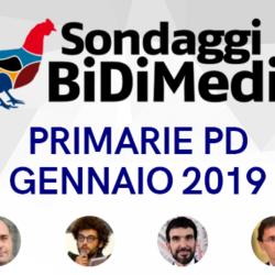 Sondaggio Bidimedia - Primarie PD: Zingaretti scende sotto al 50%, cresce Martina, Giachetti sempre terzo.