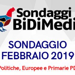 Elezioni Politiche, Europee e Primarie PD - Febbraio 2019 - Partecipate al nostro sondaggio: chi votereste se si votasse domani?