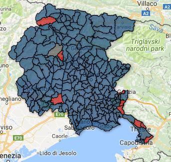Cartina Friuli Venezia Giulia.Regionali Friuli Venezia Giulia 2018 La Mappa Con I Risultati Comune Per Comune Sondaggi Bidimedia