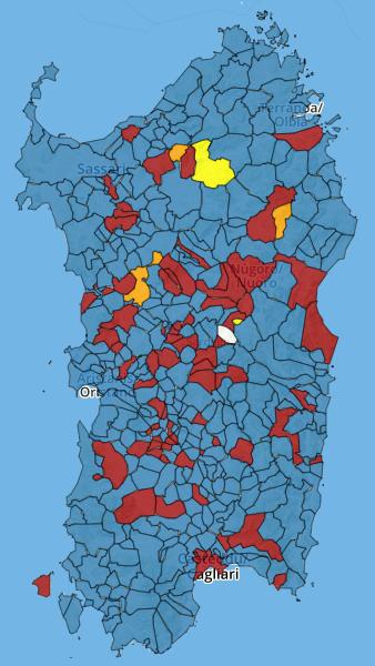 Cartina Sardegna Regioni.Regionali Sardegna 2019 La Mappa Interattiva Con I Risultati Comune Per Comune Sondaggi Bidimedia