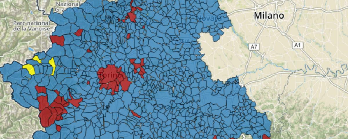 Regione Piemonte Cartina Politica.Regionali Piemonte 2019 La Mappa Interattiva Bidimedia Per Comune